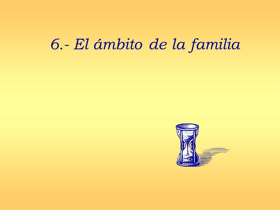 6.- El ámbito de la familia