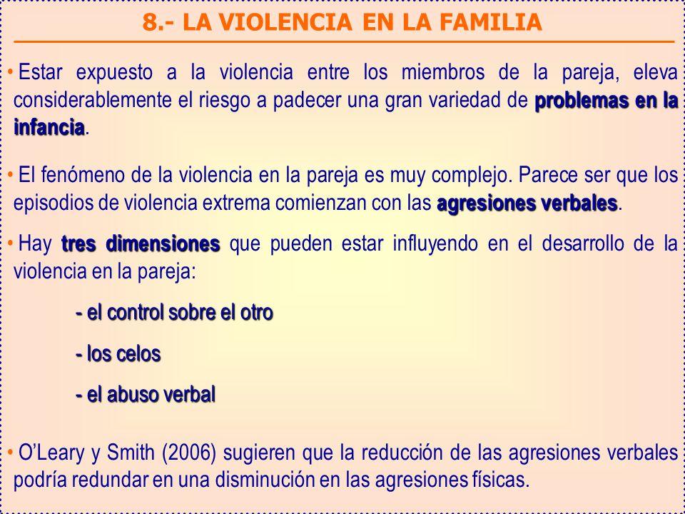 8.- LA VIOLENCIA EN LA FAMILIA