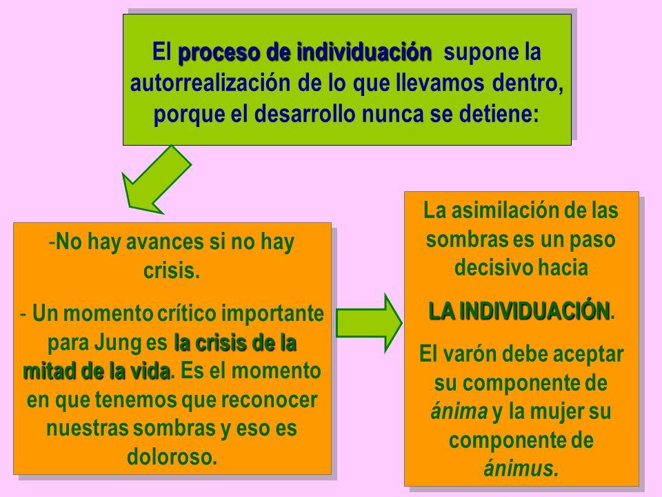 El proceso de individuación supone la autorrealización de lo que llevamos dentro, porque el desarrollo nunca se detiene:
