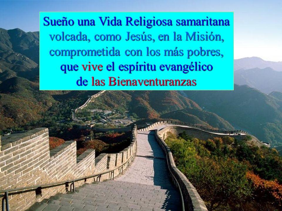 Sueño una Vida Religiosa samaritana volcada, como Jesús, en la Misión,