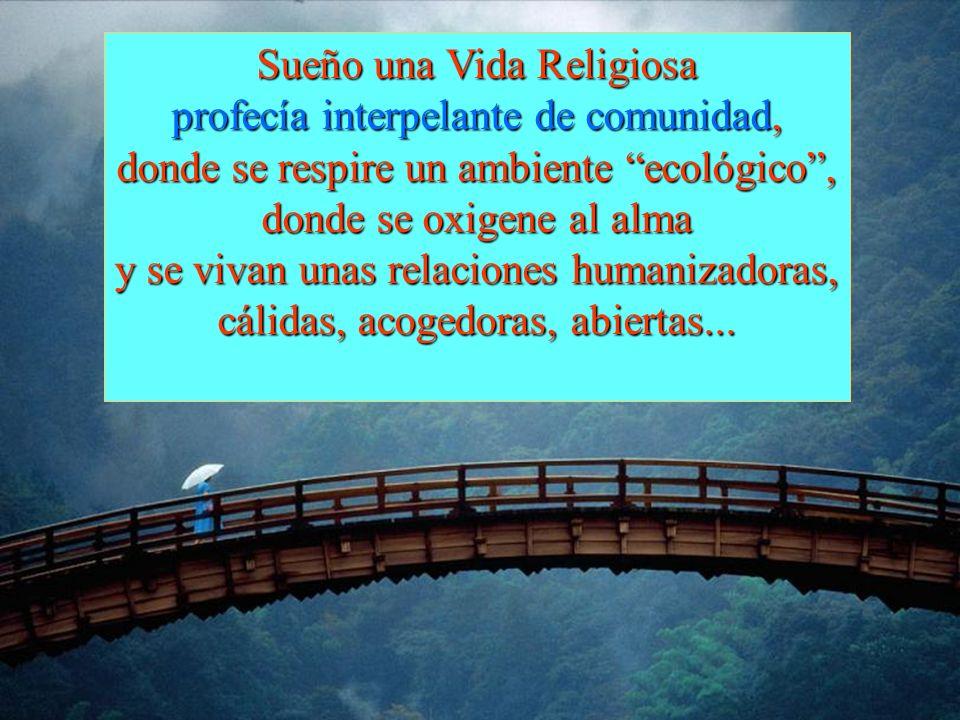 Sueño una Vida Religiosa profecía interpelante de comunidad,
