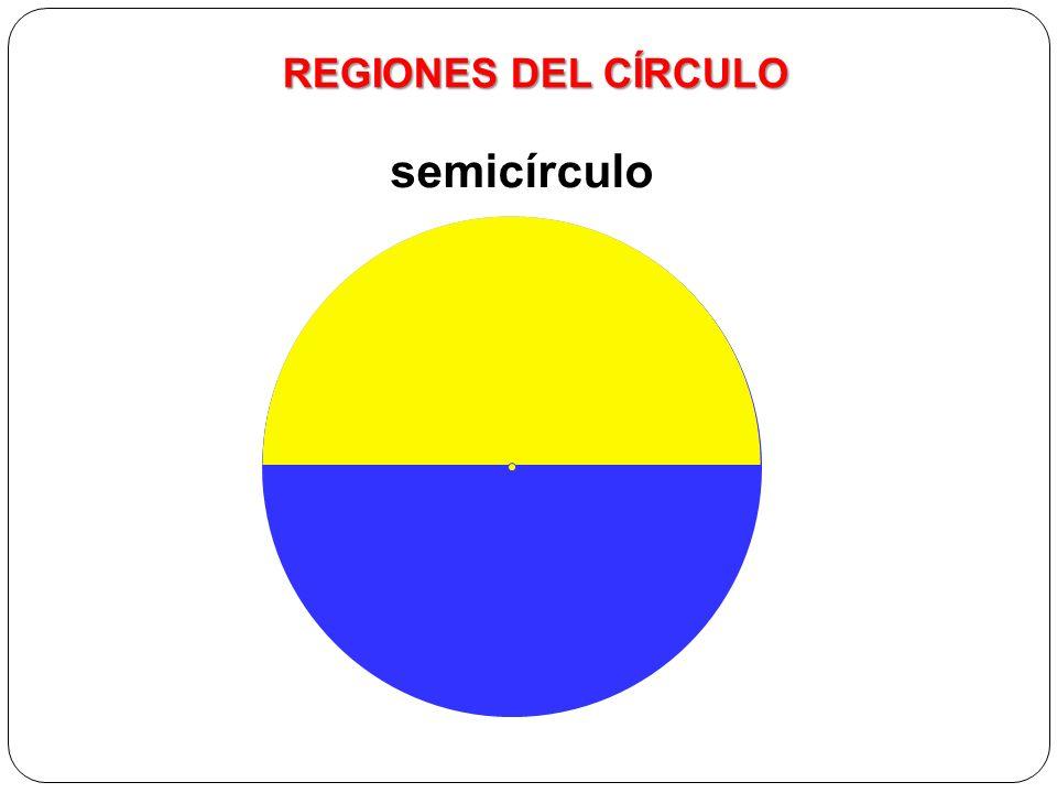 Elementos del círculo REGIONES DEL CÍRCULO semicírculo