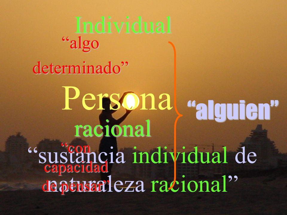 sustancia individual de naturaleza racional