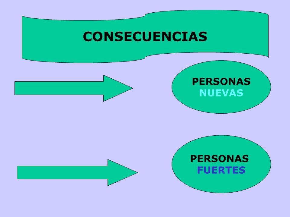 CONSECUENCIAS PERSONAS NUEVAS PERSONAS FUERTES