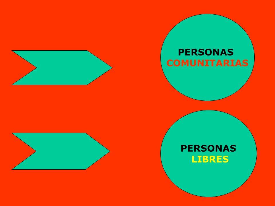 PERSONAS COMUNITARIAS PERSONAS LIBRES