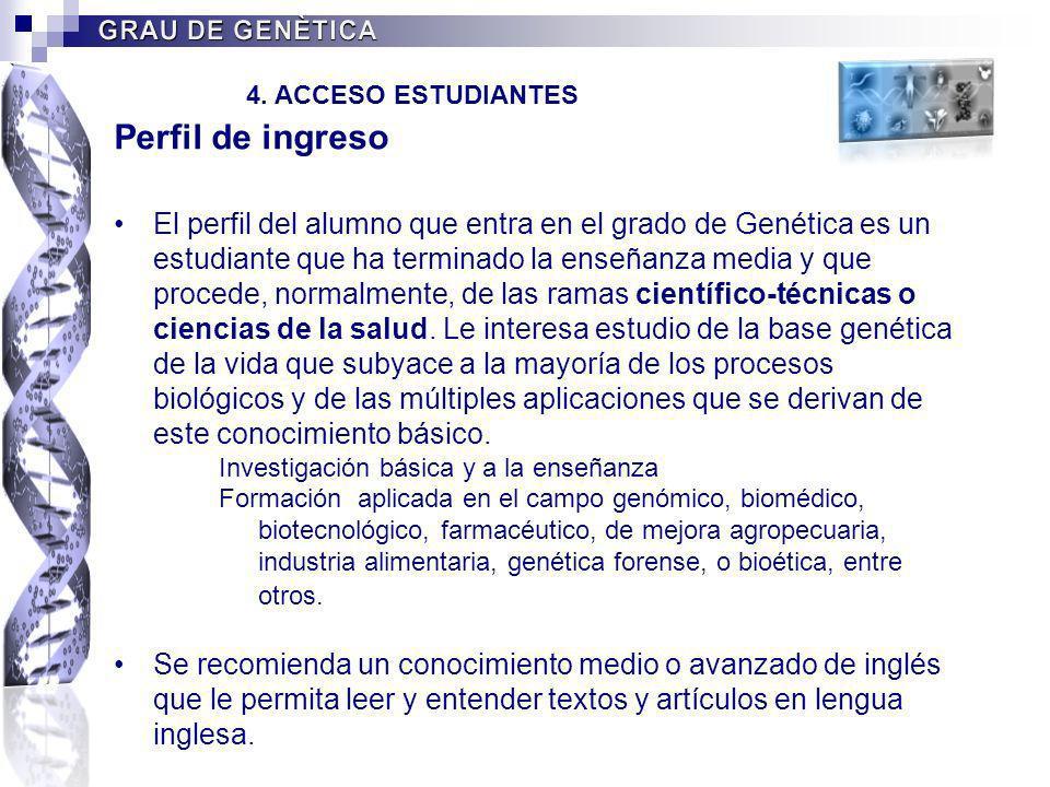 4. ACCESO ESTUDIANTES Perfil de ingreso.