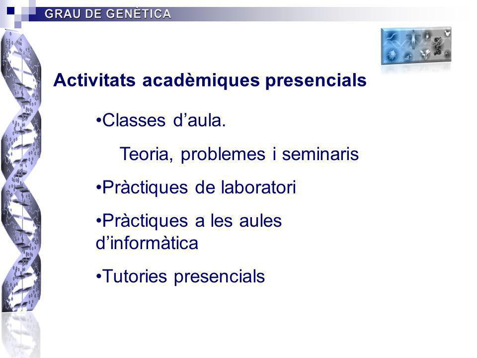 Activitats acadèmiques presencials