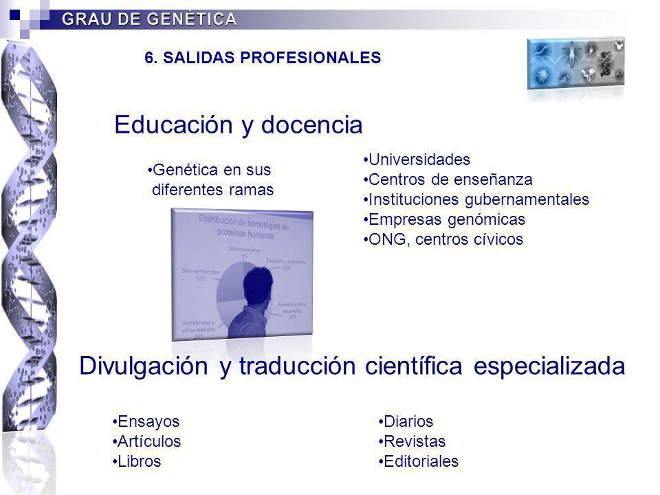 Divulgación y traducción científica especializada