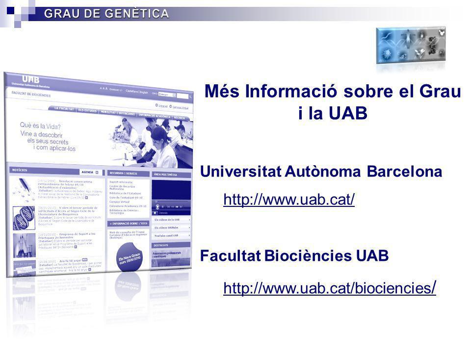 Més Informació sobre el Grau i la UAB