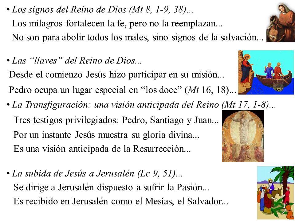 Los signos del Reino de Dios (Mt 8, 1-9, 38)...