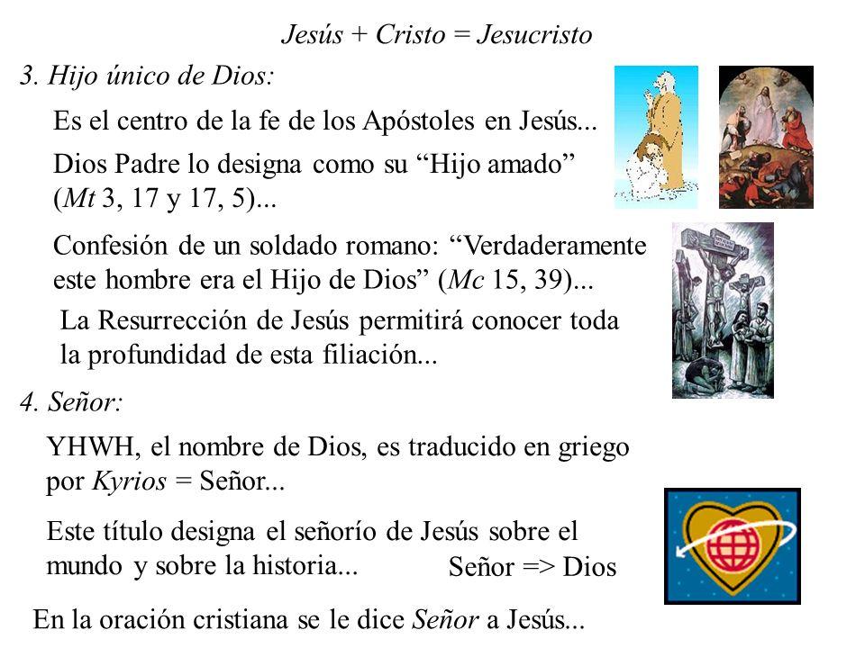 Jesús + Cristo = Jesucristo