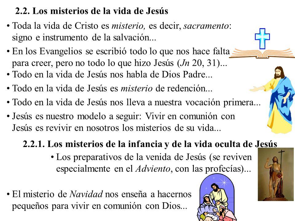 2.2. Los misterios de la vida de Jesús