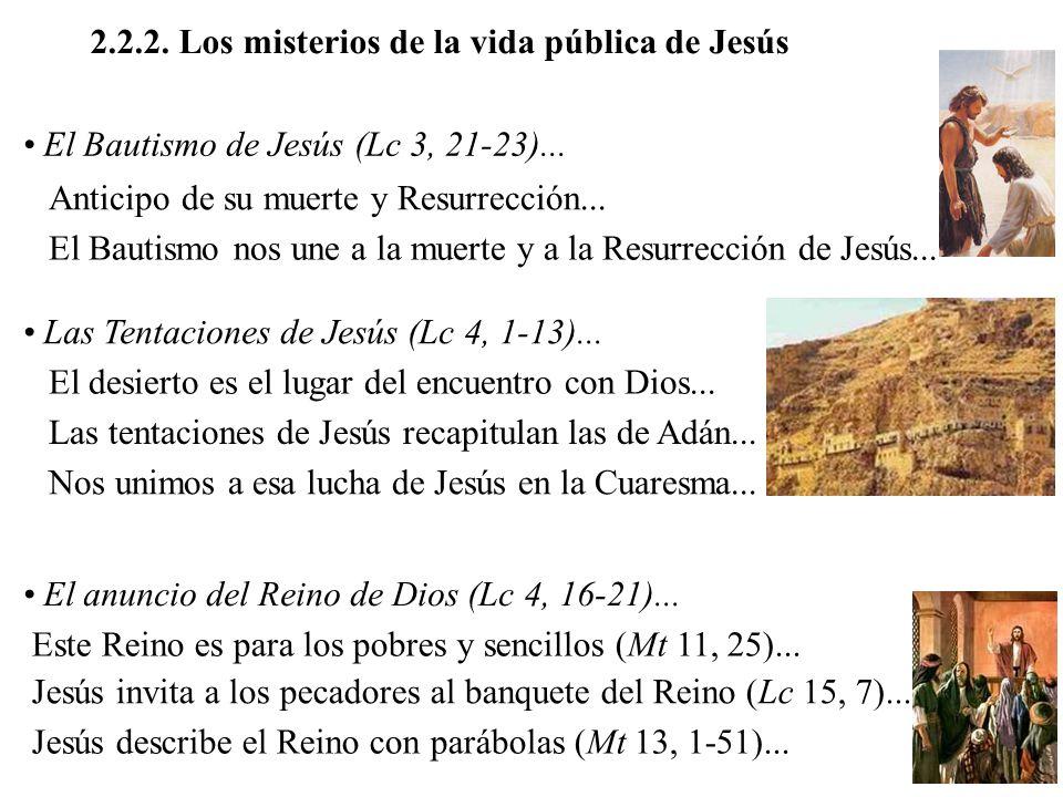 2.2.2. Los misterios de la vida pública de Jesús