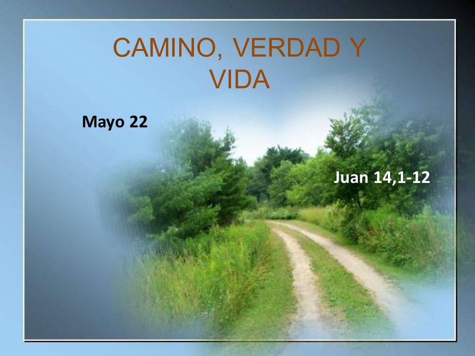 CAMINO, VERDAD Y VIDA Mayo 22 Juan 14,1-12