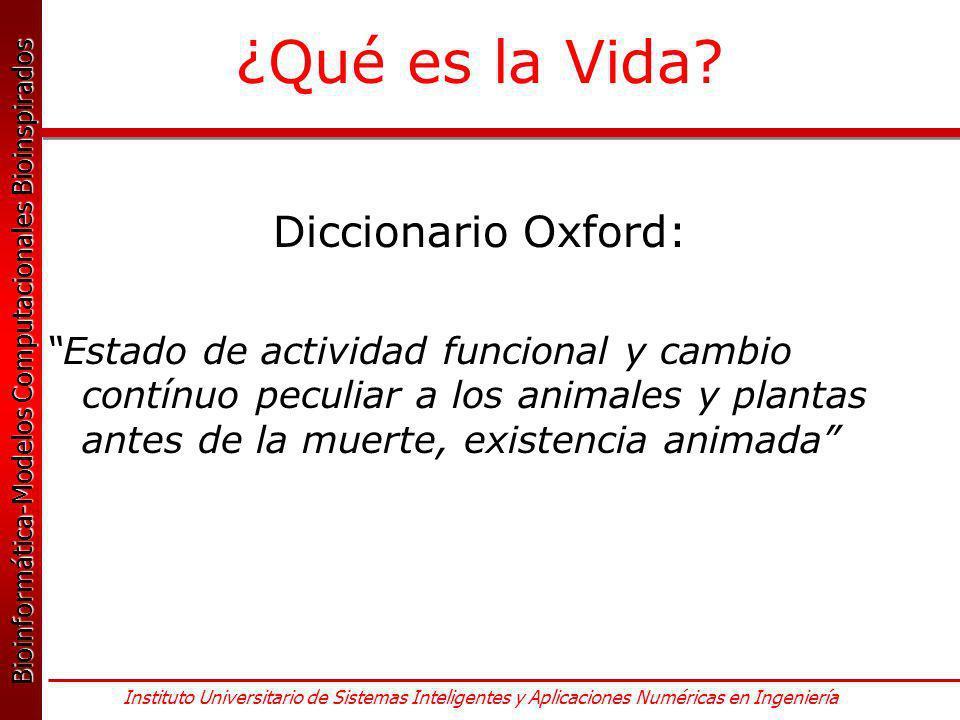 ¿Qué es la Vida Diccionario Oxford: