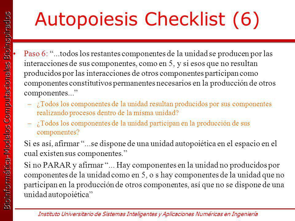 Autopoiesis Checklist (6)