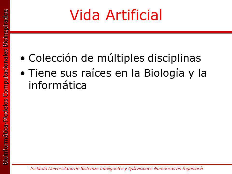 Vida Artificial Colección de múltiples disciplinas
