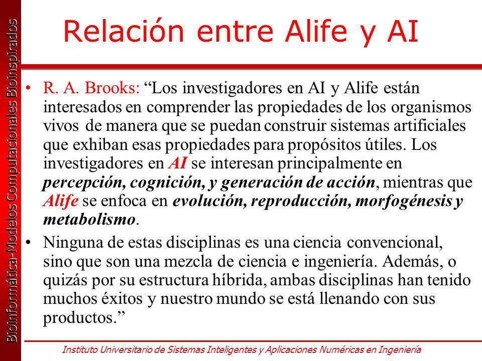 Relación entre Alife y AI