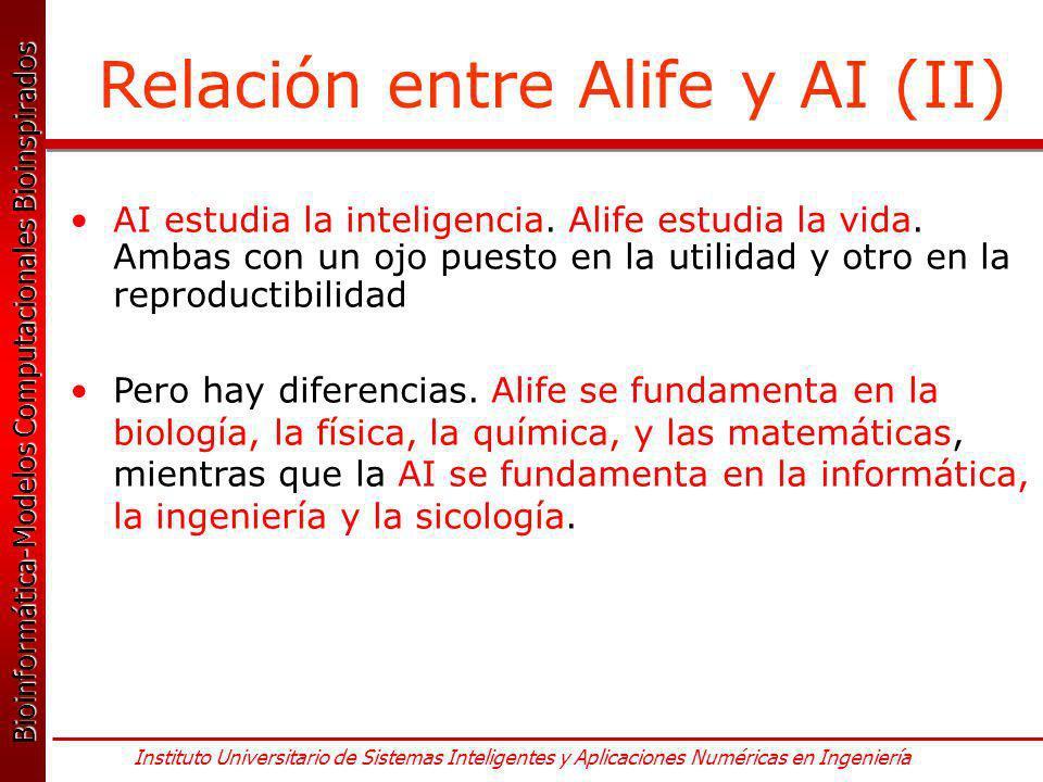 Relación entre Alife y AI (II)