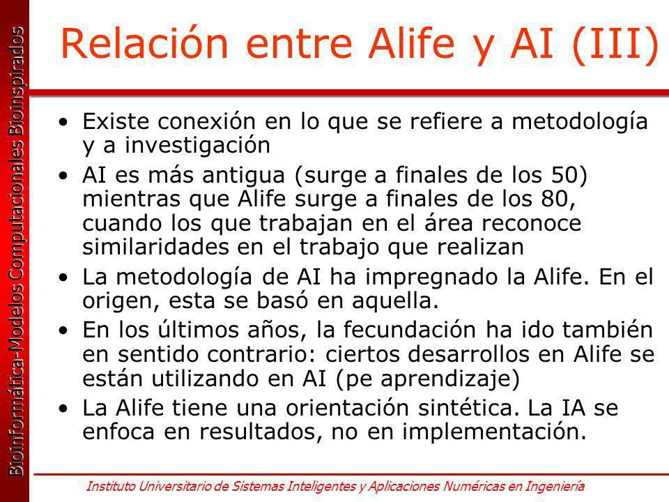 Relación entre Alife y AI (III)