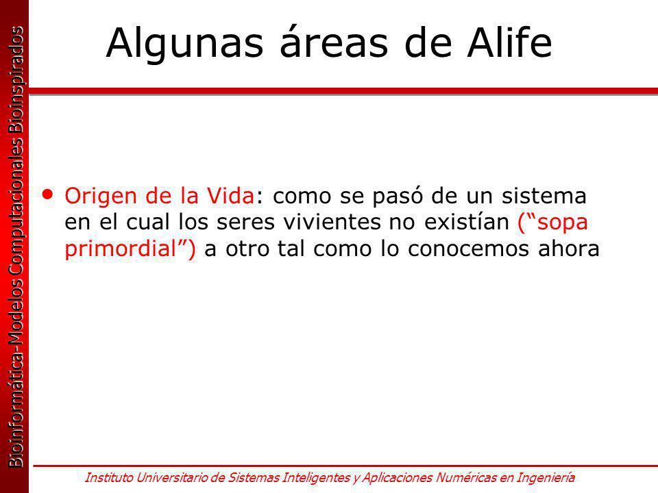 Algunas áreas de Alife
