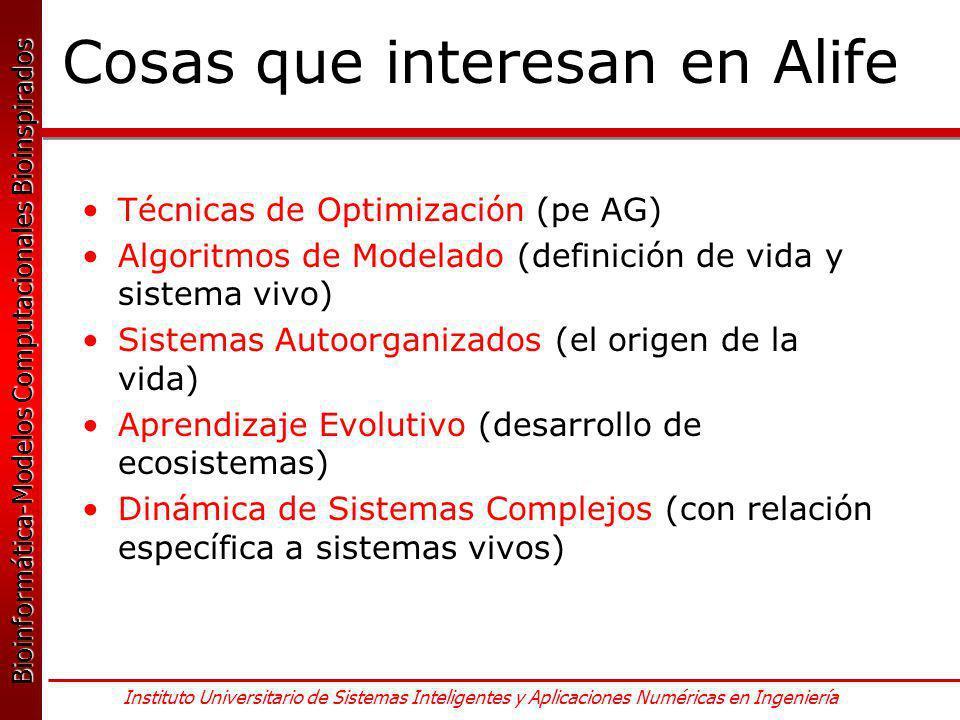 Cosas que interesan en Alife