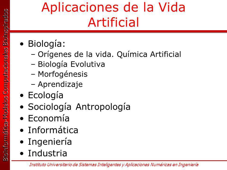 Aplicaciones de la Vida Artificial