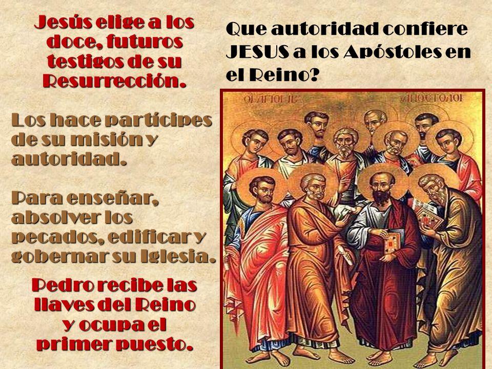 Jesús elige a los doce, futuros testigos de su Resurrección.