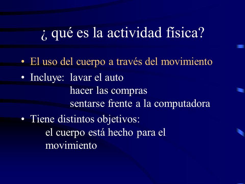¿ qué es la actividad física