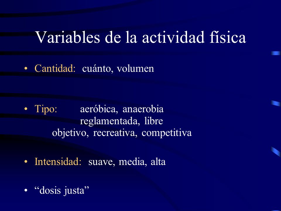 Variables de la actividad física