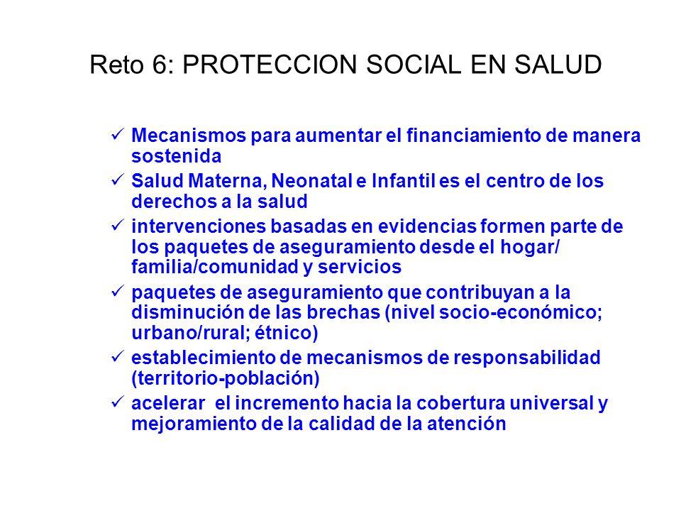 Reto 6: PROTECCION SOCIAL EN SALUD