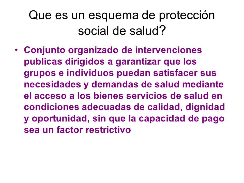 Que es un esquema de protección social de salud