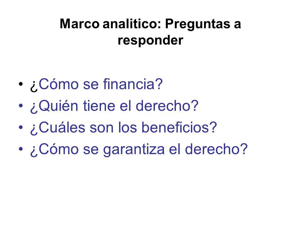 Marco analitico: Preguntas a responder