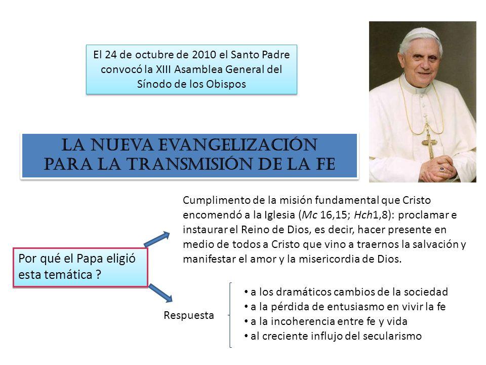 La nueva evangelización para la transmisión de la fe