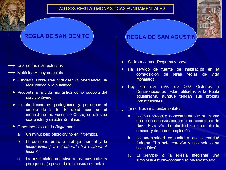 REGLA DE SAN BENITO REGLA DE SAN AGUSTÍN