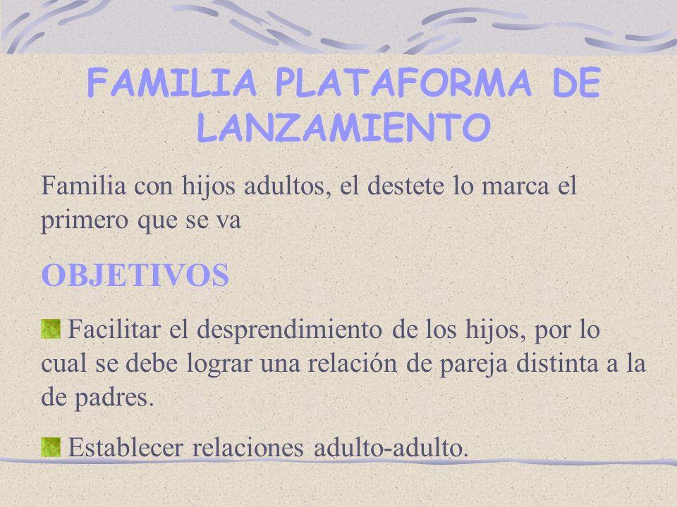FAMILIA PLATAFORMA DE LANZAMIENTO
