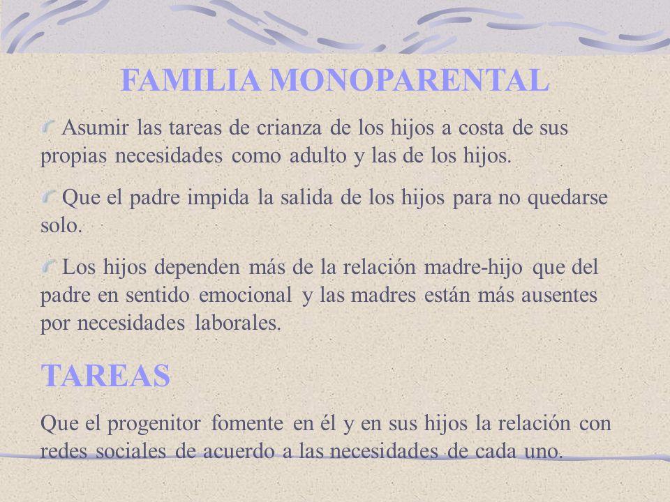 FAMILIA MONOPARENTAL TAREAS