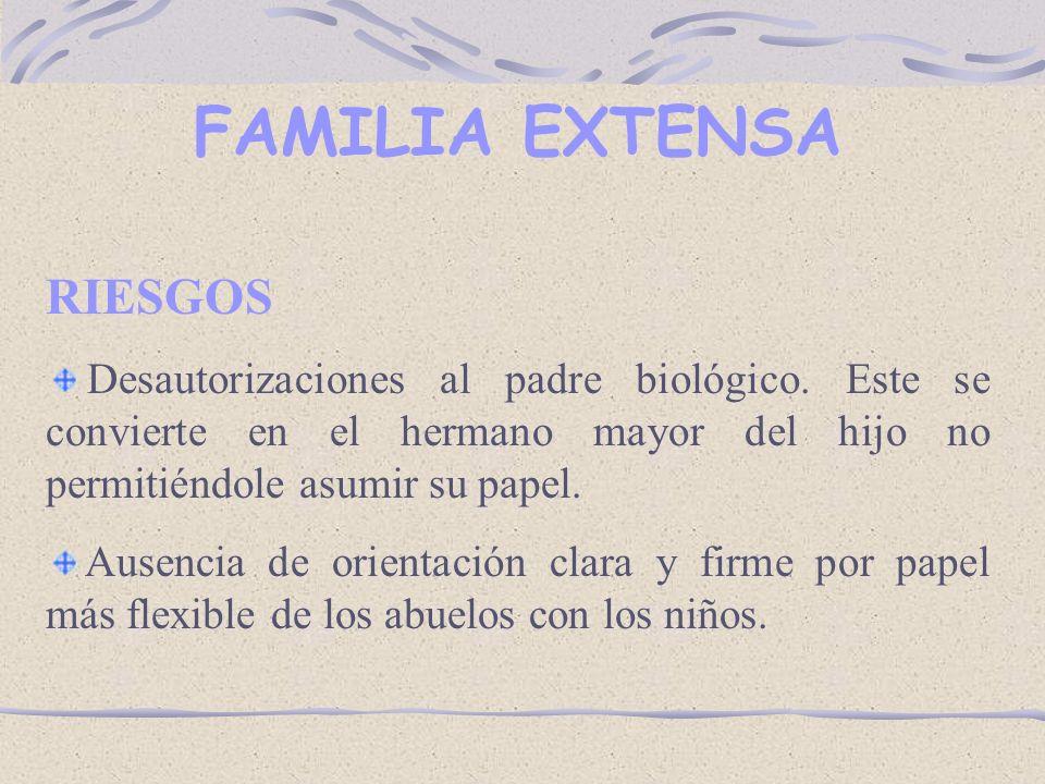 FAMILIA EXTENSA RIESGOS