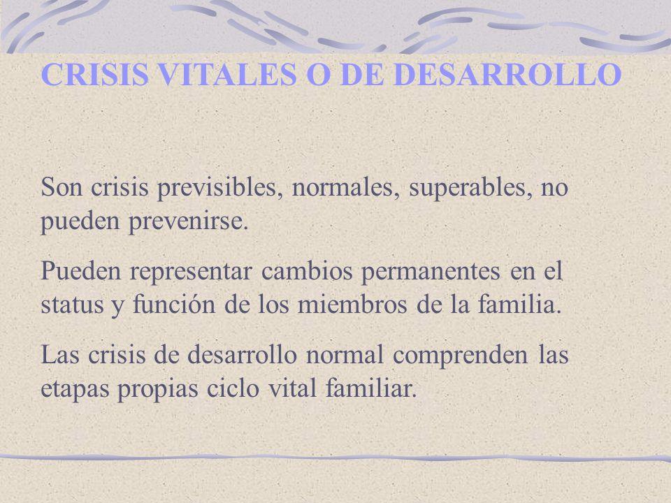 CRISIS VITALES O DE DESARROLLO