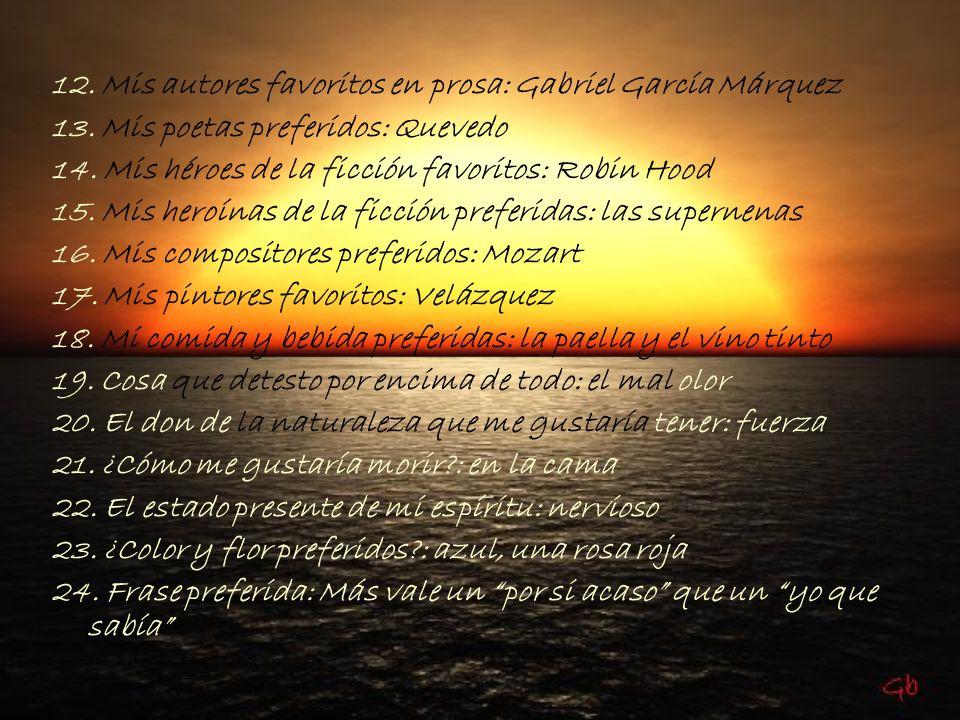 12. Mis autores favoritos en prosa: Gabriel García Márquez