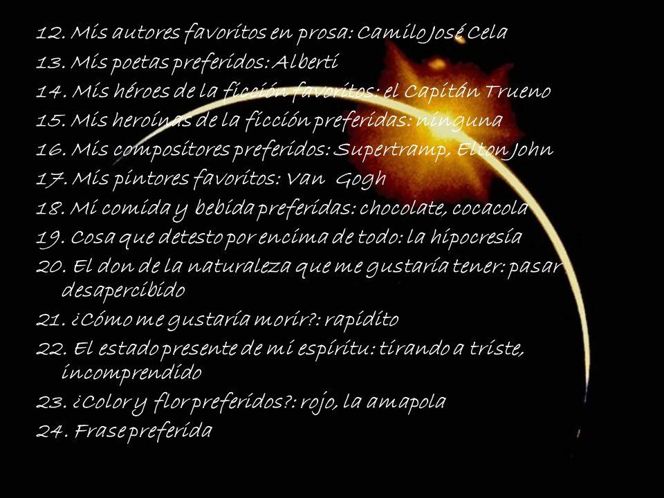 12. Mis autores favoritos en prosa: Camilo José Cela