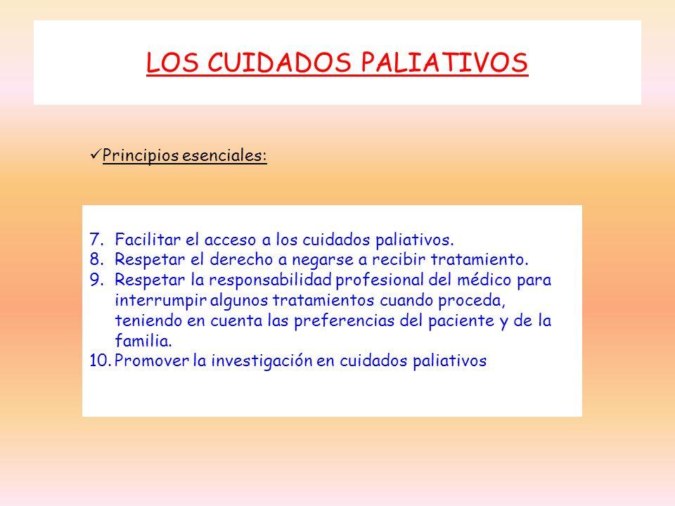 LOS CUIDADOS PALIATIVOS