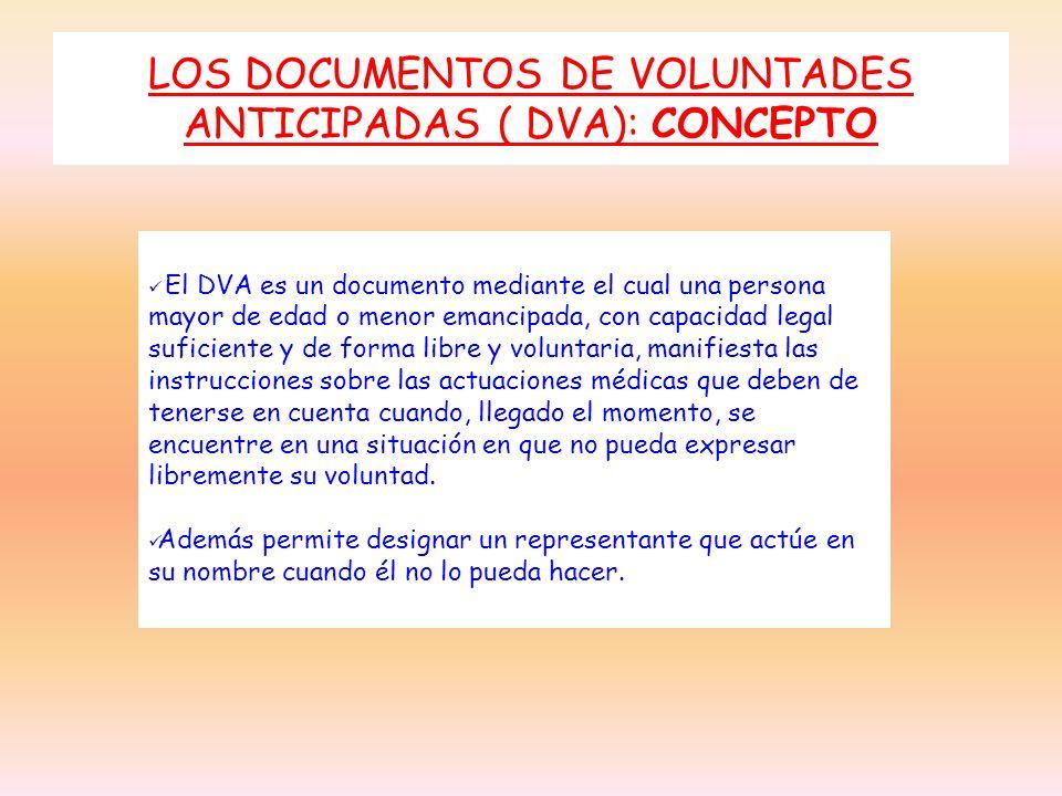 LOS DOCUMENTOS DE VOLUNTADES ANTICIPADAS ( DVA): CONCEPTO