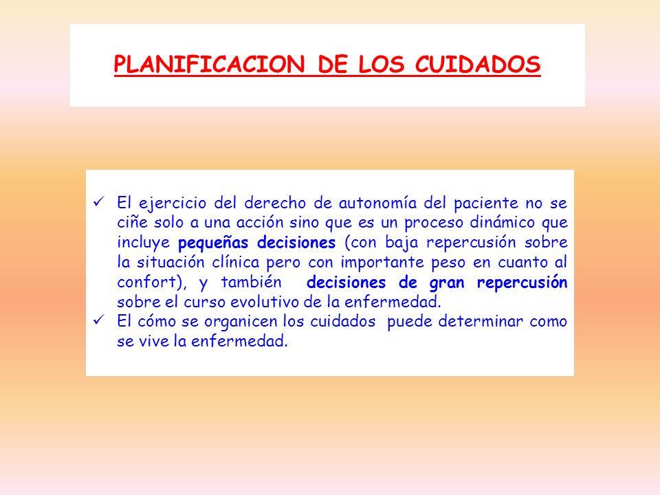 PLANIFICACION DE LOS CUIDADOS