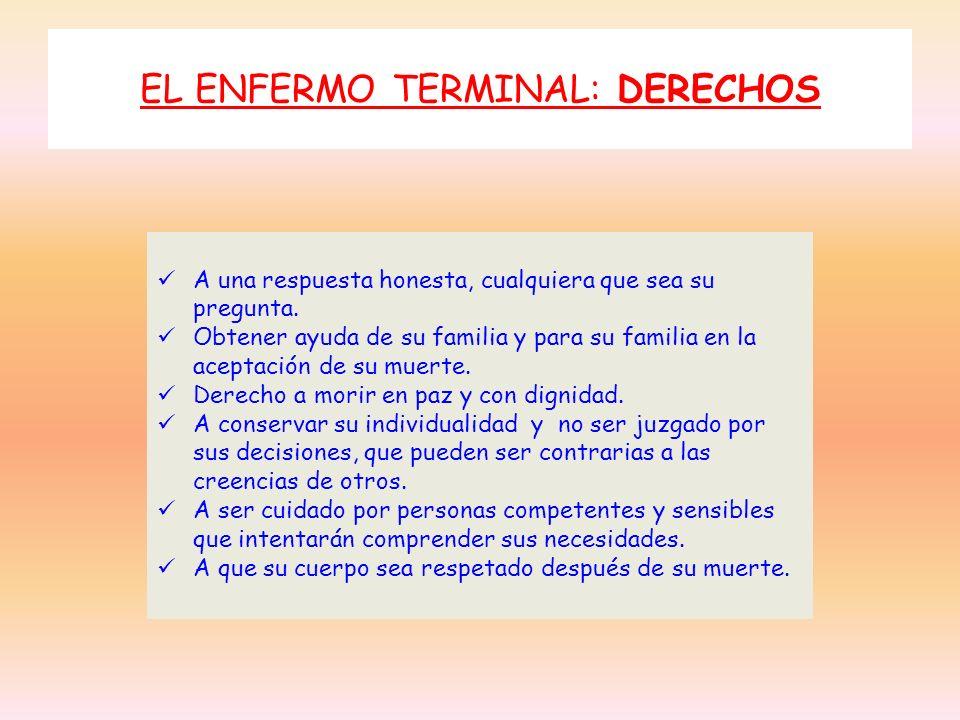 EL ENFERMO TERMINAL: DERECHOS