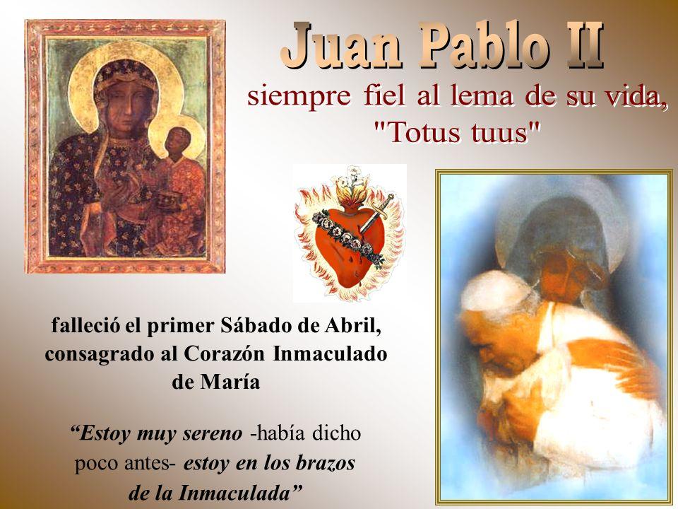 falleció el primer Sábado de Abril, consagrado al Corazón Inmaculado