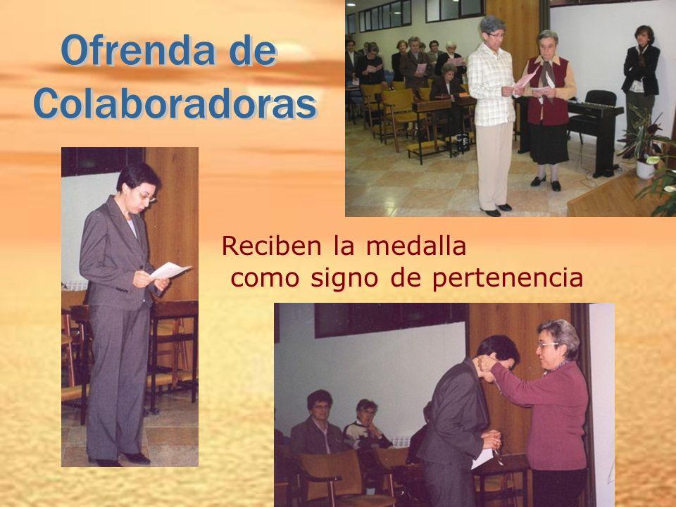Ofrenda de Colaboradoras Reciben la medalla como signo de pertenencia