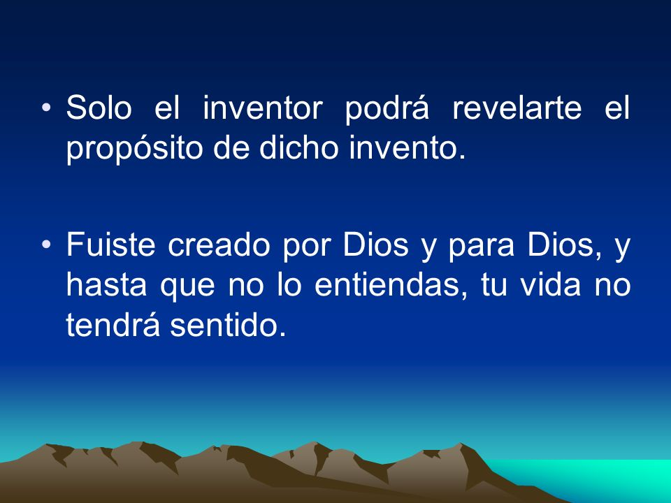 Solo el inventor podrá revelarte el propósito de dicho invento.