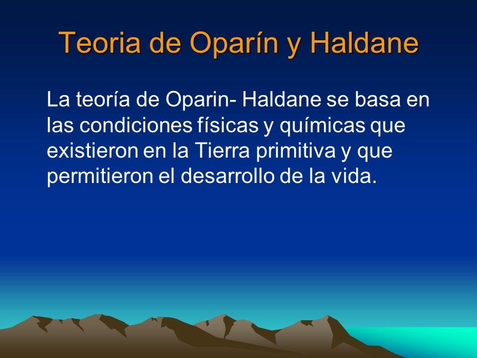 Teoria de Oparín y Haldane