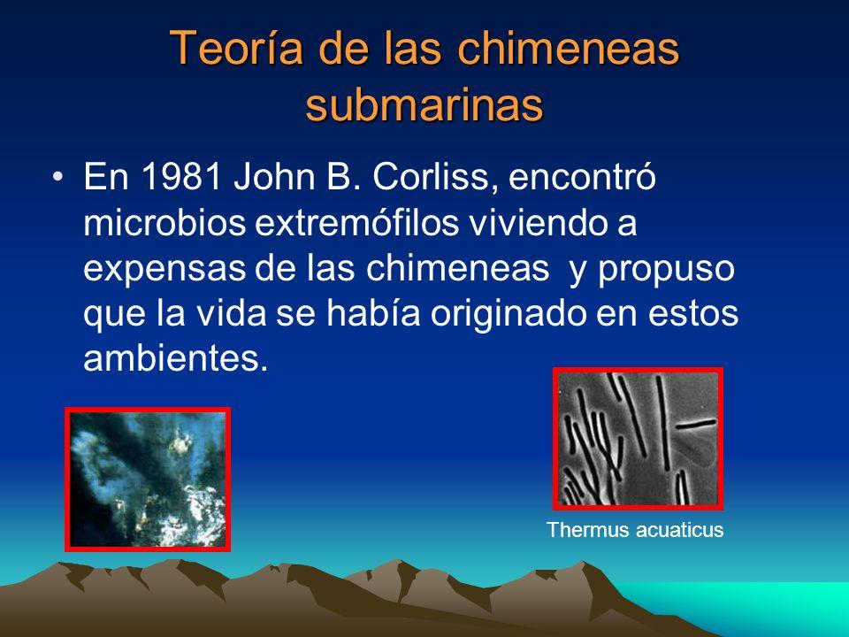 Teoría de las chimeneas submarinas